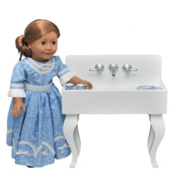 "American Vintage Styled Kitchen Sink, Furniture For 18"" Girl Dolls"