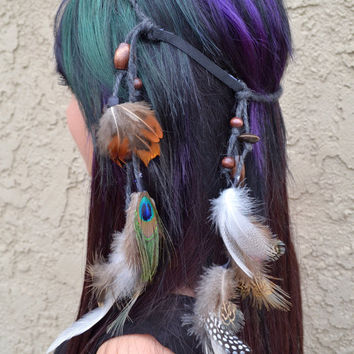 Assorted Feather Headband #B1051
