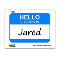 Jared Hello My Name Is Sticker