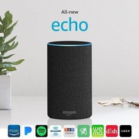 ONETOW Certified Refurbished All-new Echo (2nd Generation) with improved sound, powered by Dolby, and a new design ¨C Charcoal Fabric