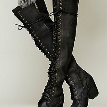 Jeffrey Campbell Womens James Lace Up Boot -