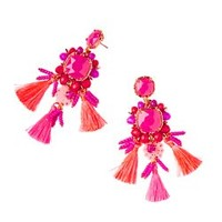Island Exotic Tassel Earrings | 28566 | Lilly Pulitzer