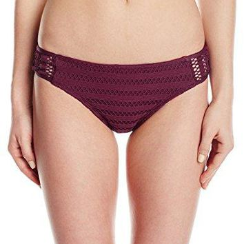 Kenneth Cole New York Womens Side Shirred Hipster Bikini Swimsuit Bottom
