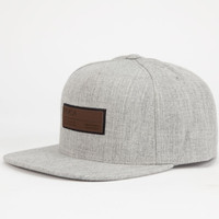 Rvca Frames Mens Snapback Hat Light Grey One Size For Men 24504313101