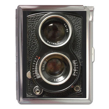 Vintage Camera Retro Cigarette Case Lighter / Wallet Business Card Holder
