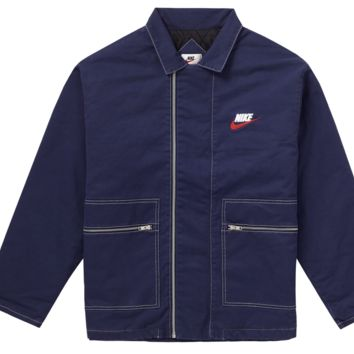 SUPREME x Nike Double Zip Quilted Work Jacket