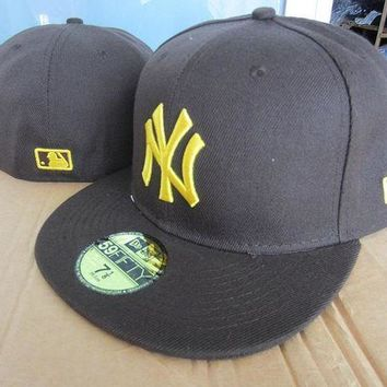 New York Yankees New Era Mlb Authentic Collection 59fifty Cap Black_golden