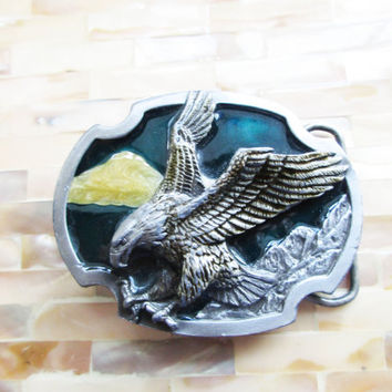 American Eagle Belt Buckle Bird Watcher Outdoors Siskiyou Buckle - FL