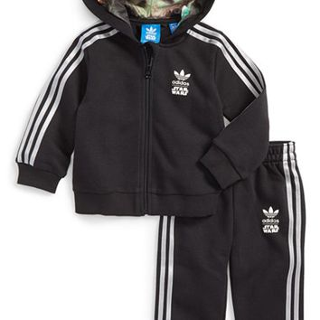 Infant Boy's adidas 'Star Wars - Millennium Falcon Tracksuit' Full Zip Hoodie & Sweatpants