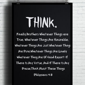 Think Quotes, (Instant Download) , 300 dpi, Popular Digital Art