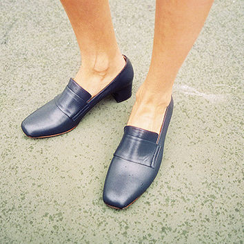 MELISA PILGRIM SHOE, MIDNIGHT CALF