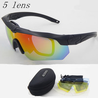 Polarized high quality sunglasses TR-90 ESS CROSSBOW military goggles,5lens bullet-proof Army tactical glasses ,shooting eyewear