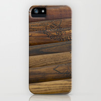 Wooden baseball bats iPhone & iPod Case by Janice Sullivan