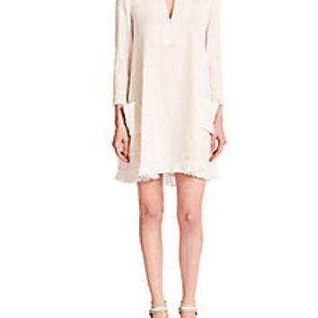 BCBGMAXAZRIA - Trysta Fringe Dress - Saks Fifth Avenue Mobile