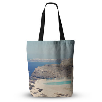 "Sylvia Coomes ""Greek Paradise"" Blue Tan Everything Tote Bag"