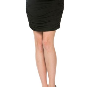 Dressy Ruched Bodycon Mini Skirt