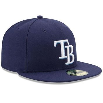 Mens New Era MLB Tampa Bay Rays Authentic On Field Game 59FIFTY Hat