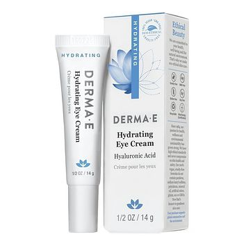 Derma E Hydrating Eye Cream, Hyaluronic and Pycnogenol - 0.5 oz