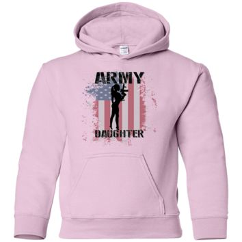 ARMY DAUGHTER :G185B Gildan Youth Pullover Hoodie