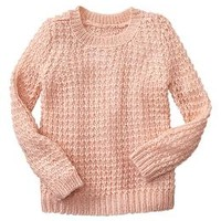 Metallic open-stitch sweater