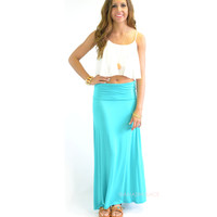 Summerland Mint Maxi Skirt