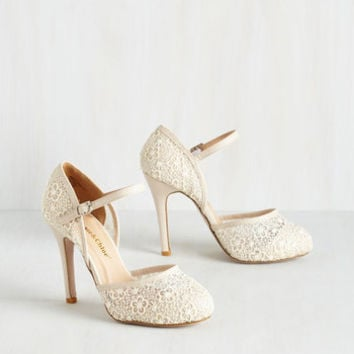 Fairytale Tea House Haute Heel in Ivory by ModCloth