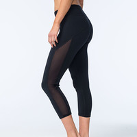 FULL TILT SPORT Mesh Womens Capri Leggings | Leggings