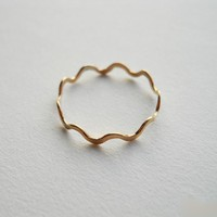 Polygon Ring 14K Gold Filled by StreetBauble on Etsy