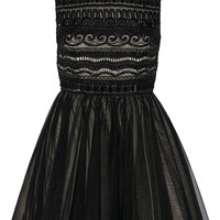 Alice + Olivia - Taya embellished organza and tulle mini dress