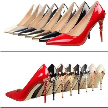 Charming Pointed Toe Low Cut Stiletto High Heels Party Shoes
