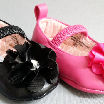 Infant Toddler Girls Little Angel AADI74 WEDDING PAGEANT Rhinestone Flats Satin Crib Shoes
