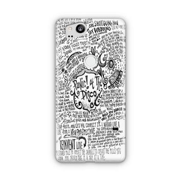 Panic! At The Disco Lyric 3 Cover Google Pixel 3 Case | Casefantasy
