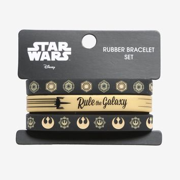 Licensed cool Star Wars Rule the Galaxy Rubber Bracelet Set 3 Pack Loungefly Licensed Disney