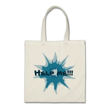 Blue bullet hole. Add your text. Tote Bag