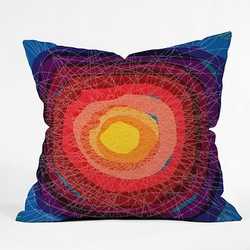 Raven Jumpo Tie Die Madness Throw Pillow