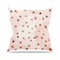"Iris Lehnhardt ""Dotty"" Pink Coral Throw Pillow"