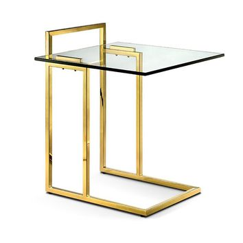 Sunland Side Table POLISHED GOLD Set Of 2 - CLEARANCE