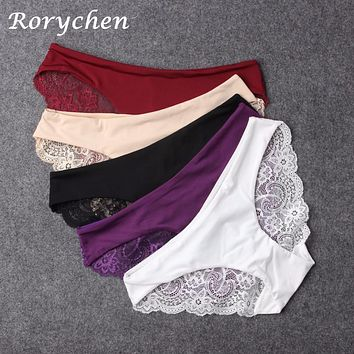 Women Lace Sexy Panties,Ultra-Thin Transparent Flower Embroidered Patterned,Plus Size Underwear Seamless Briefs 6Colors S/M/L/XL