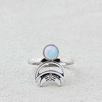 AEO Moon + Opal Ring , Silver