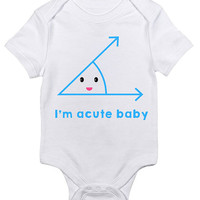 I'm acute baby Baby Clothes Infant Bodysuit Baby Shower Gift idea New Mom Christmas Humor Cute Geometry Geek Nerd Math Science Joke Funny