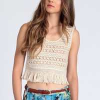 Gotta Get Away Crochet Tank - $28.00 : ThreadSence.com, Free-spirited fashion for the indie-inspired lifestyle