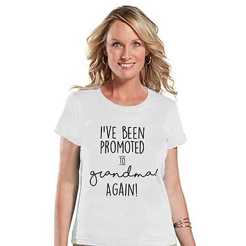 Custom Party Shop Women's Promoted to Grandma Pregnancy Announcement T-shirt