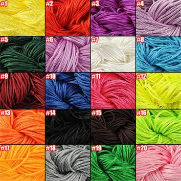 Hot Sale 30 Color Nylon Cord Thread Chinese Knot Macrame Rattail 1mm*30M For DIY Bracelet Braided