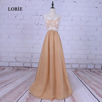 LORIE New Arrival Sweetheart Appliques Lace Maternity Evening dresses pregnant Champagne Prom Dress for Party Gown abendkleider