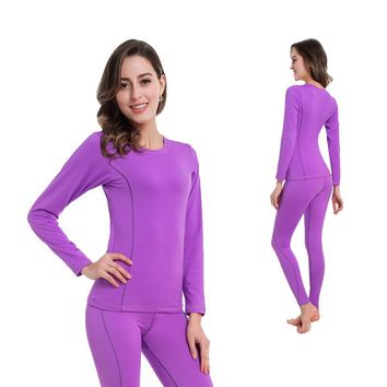 Women Thermal Underwear Women Quick Dry POLARTEC Ski Top and Pants