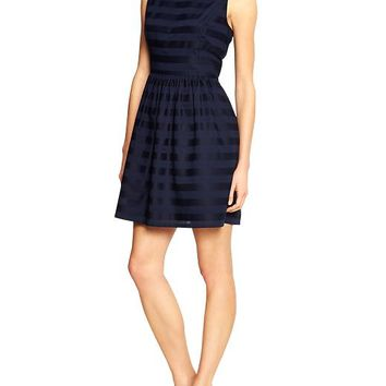Gap Women Factory Dobby Stripe Dress