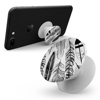 Vector Black and White Feathers - Skin Kit for Pop Sockets and other Smartphone Extendable Grips & Stands