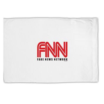 Fake News Network Funny Standard Size Polyester Pillow Case by TooLoud