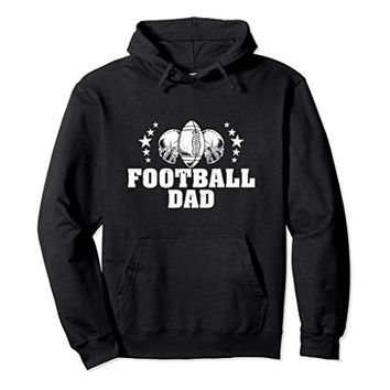 Football Dad Hoodie Helmets and Footballs for Football Dads