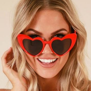 2018 Ladies Heart Shaped Sunglasses Love heart sunglasses women cat eye vintage  Brand Designer Female Shades  Lady Sunnies